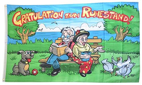 Flaggenfritze® Flagge/Fahne Gratulation zum Ruhestand - 90 x 150 cm