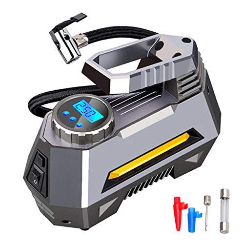 Portable Air Compressor Tire Inflator - Autoband Pomp Met Digitale Manometer (150 Psi 12V DC) Bright Zaklantaarn Voor Noodgevallen