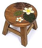 ハワイアン雑貨/インテリア 木製ラウンド スツール ルアナ