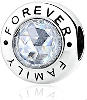 SUNWIDE Family Forever Bead Charms Sterling Silver fit Pandora Bracelets