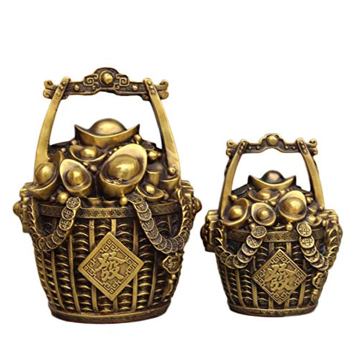 不幸警告する巨人老君炉 金の装飾品の純粋な銅製のバケツお金インゴット貯金箱おめでとうございます富の家の装飾工芸品装飾ブロンズ