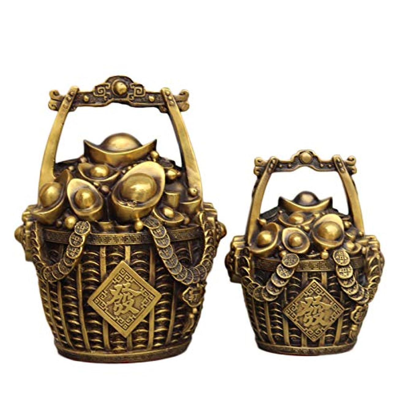 換気ロマンチックうん老君炉 金の装飾品の純粋な銅製のバケツお金インゴット貯金箱おめでとうございます富の家の装飾工芸品装飾ブロンズ