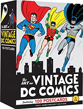 The Art of Vintage DC Comics  100 Postcards  Gift for Vintage Comic Book Fan Art Note Card Set