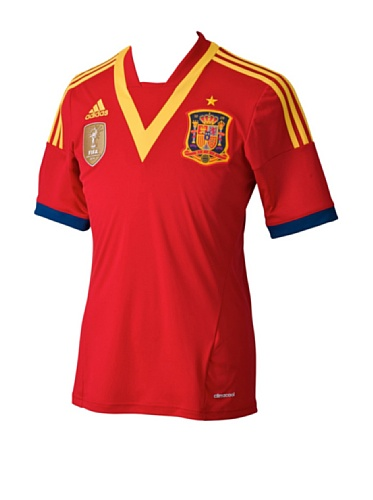 adidas Herren Trikot Spain Home 2013, rot/gelb (), S, X53272
