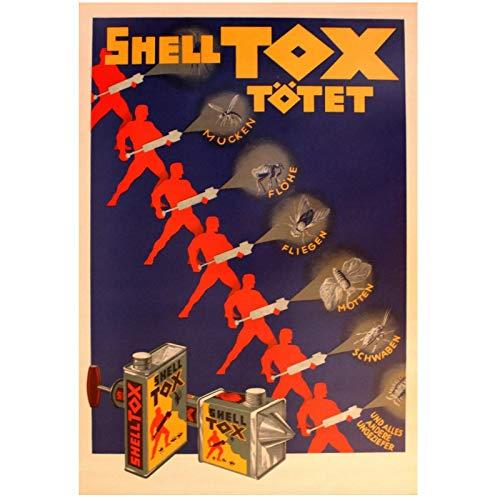 Shell Tox insecticida habitación Vintage póster decorativo pared lienzo pintura delicada decoración...