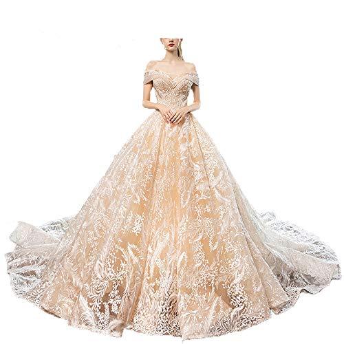 Vestidos de novia de novia de la mujer Mujeres fuera del hombro...