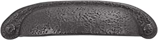 Hickory Hardware P3004-BI-10B Refined Rustic Collection Cup Pull, 3 Inch and 3-3/4 Inch (96mm) Center, Black Iron, 10 Each