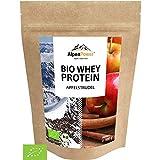 AlpenPower BIO WHEY Protein Apfelstrudel 500g I Ohne Zusatzstoffe I 100% natürliche Zutaten I Bio-Milch aus Bayern und Österreich   Hochwertiges Eiweißpulver