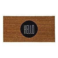 Bloomingville Natural Coir Hello Doormat [並行輸入品]