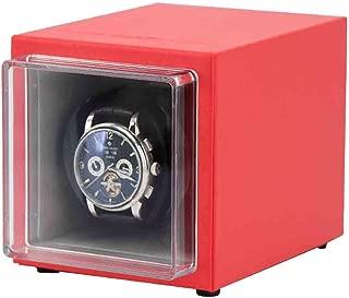 Caja Vitrina Almacenamiento Organizador automático portátil Winder Reloj Individual Adecuado para la muñeca Damas y Hombres Colores múltiples (Color: C)