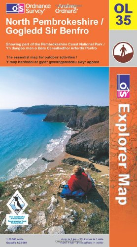 OS Explorer map OL35 : North Pembrokeshire / Gogledd Sir Benfro