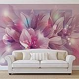 Blumen Natur Rosa Lila - Forwall - Fototapete - Tapete - Fotomural - Mural Wandbild - (762WM) - XXXL - 416cm x 254cm - VLIES (EasyInstall) - 4 Pieces