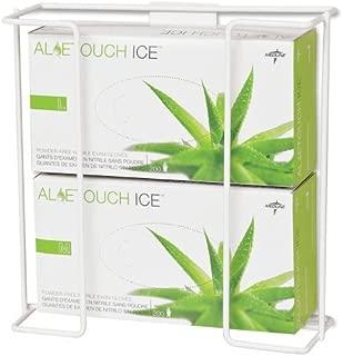 Medline Wire Glove Dispenser Box Holder, Double, White, Pack of 2