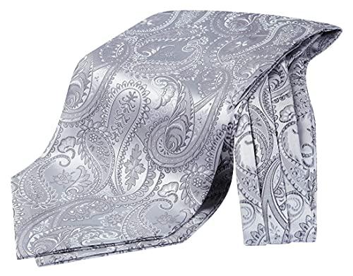 Enlision Herren Krawattenschal Paisley mit Geschenkbox Ascot Krawatte Formelle Klassische Floral Krawatten für Herren