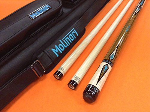 Lowest Prices! Jacoby Carom CUE 0717-56C Edge Hybrid SHAFTS & MOLINARI CASE (Special Edition)