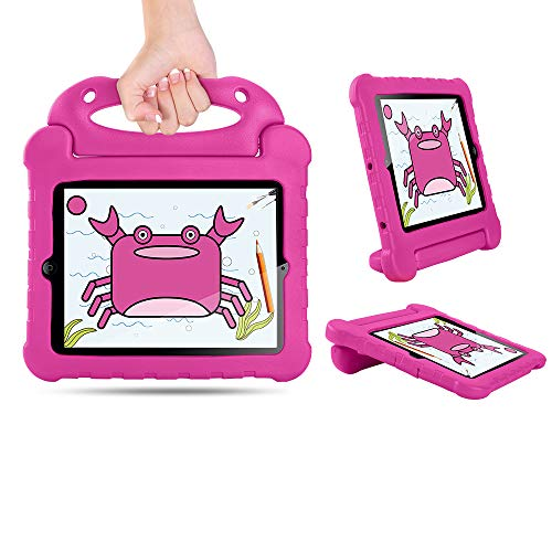 SORAKA Kids Case for iPad 2 3 4 with Handle Stand Light Weight Shockproof Case Cover with Lanyard,compatible with iPad 2/iPad 3/iPad 4