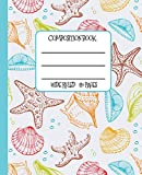 Wide Ruled Composition Book: Pretty Sea Shells Themed Composition Notebook for school, work, or home! Keep your notes neat and organized while you ... and surf! (Beach Lovers Composition Notebook)