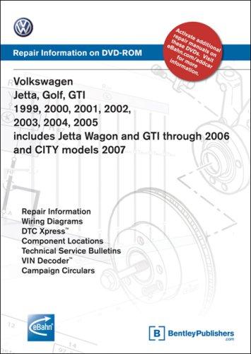 Volkswagen Jetta, Golf, GTI 1999, 2000, 2001, 2002, 2003, 2004, 2005: Repair Manual on DVD-ROM (Windows…