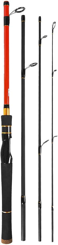 YUGANHUANGK 1,8 Mt 1,98 Mt 2,1 Mt Spinning Casting Angelrute 4 Abschnitte High Carbon Rod Angelgerät Karpfenfischen B07K24YR7N  Offizielle Webseite