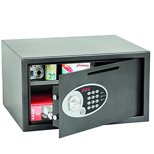 Phoenix Vela SS0803ED Deposit Home & Office Safe met elektronisch codeslot, grafiet-grijs (middel)