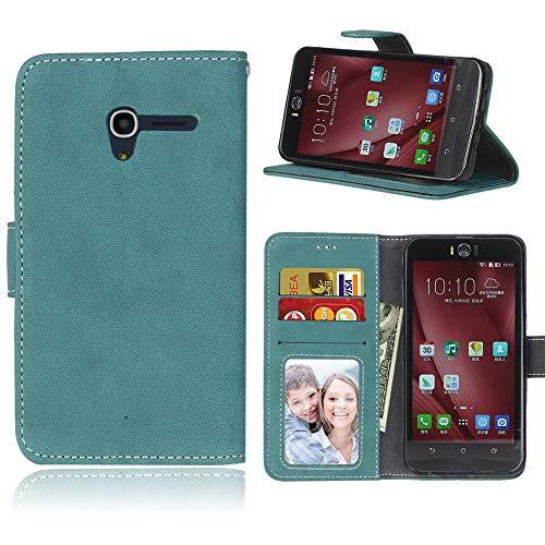 Sangrl Libro Funda para Alcatel One Touch Pop 3 (5.0 Pulgada), PU Cuero Cover Flip Soporte Case [Función de Soporte] [Tarjeta Ranuras] Cuero Sintética Wallet Flip Case Azul