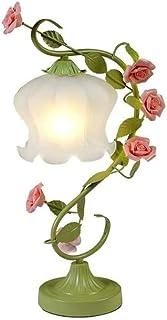 WYBFZTT-188 Fer Nordique Lampe de Table, Lampe de Table Décoration Rose Chambre Creative Princess Girl Salle de Chevet Lam...