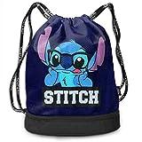 Etryrt Mochila de Cuerda Bolsas de Gimnasia Stylish Stitch with Glasses Lightweight Sackpack Sport Gym Bundle Backpack