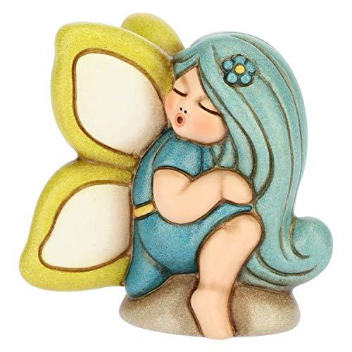 THUN - Ametista, Fata dei Sogni Inginocchiata - Soprammobile Fatina - Accessori per la Casa - Formato Piccolo - Ceramica - 5,4 x 5,3 x 6,65 h cm