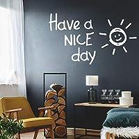 素敵な一日をお過ごしください壁取り外し可能なPVCウォールステッカー男の子の寝室のデカールアート壁画43x73cm