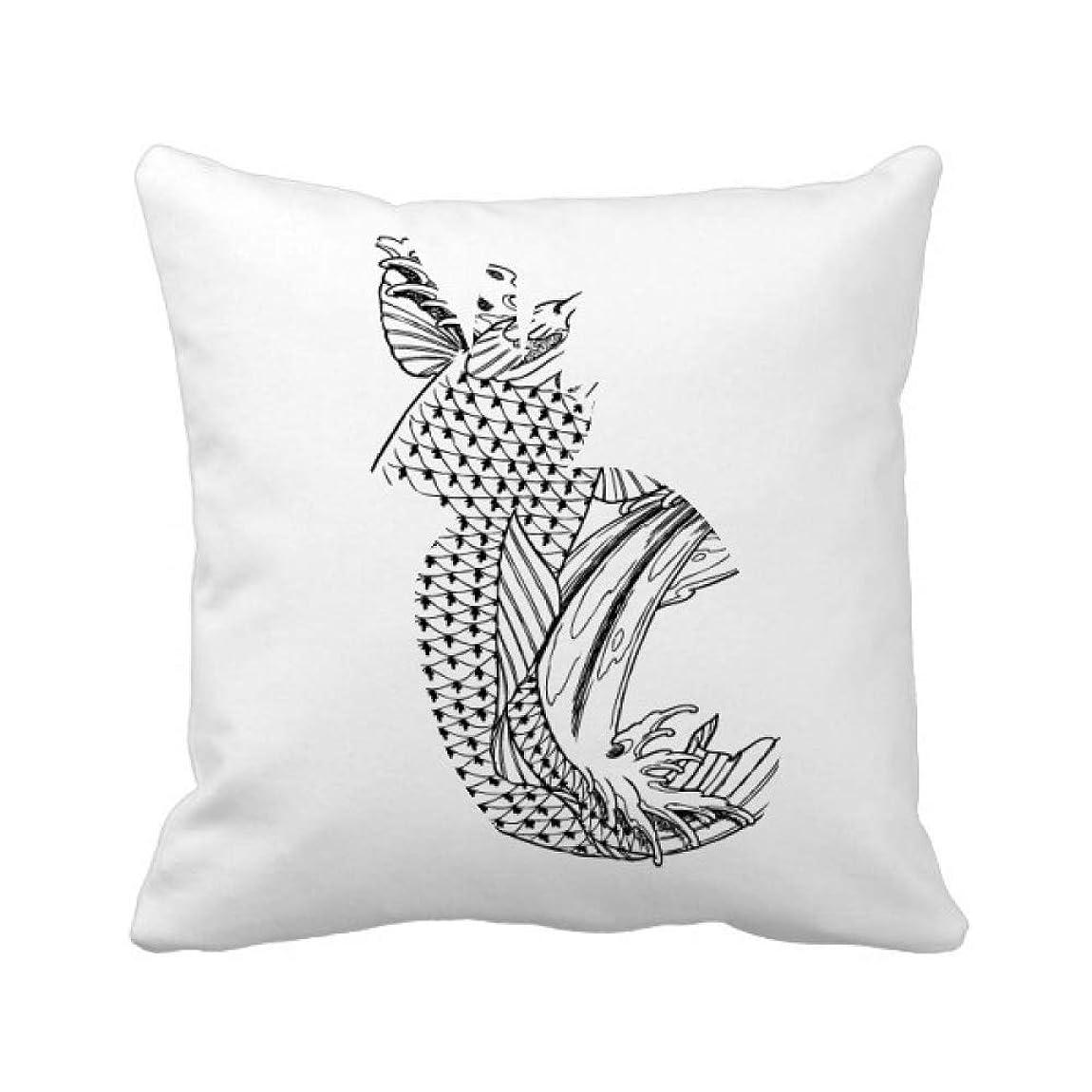 ファブリックマウント怠魚の遊泳する高速希望運 パイナップル枕カバー正方形を投げる 50cm x 50cm