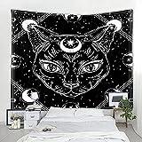 Mandala fantasía gato tapiz Tarot colgante de pared astrología adivinación brujería decoración...