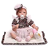 Pinky Reborn Baby Dolls Real Touch 22inch Fake Baby Soft Vinyl Silicone Life Like Reborn Baby Doll Realistic...