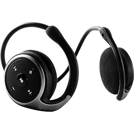 SHEYI A-23 Bluetooth イヤホン5.0 ワイヤレスヘッドホン 耳掛け式 重低音 オープン型 両耳折り畳み式 圧迫感なし マイク付き 遮音 FMラジオ/TFカード対応 iPhone&Androidスマホ タブレットに対応(ブラック)