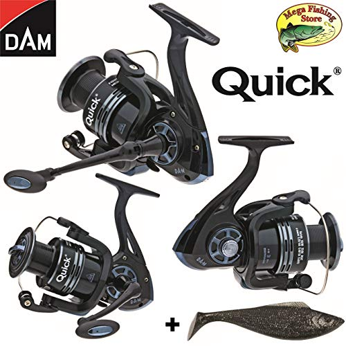 Dam Quick Fighter Pro Metal Spinrolle - Spin Rolle/Angelrolle - 2000 bis 6000 (3000er / 330 FD - 128m > 0,30mm)