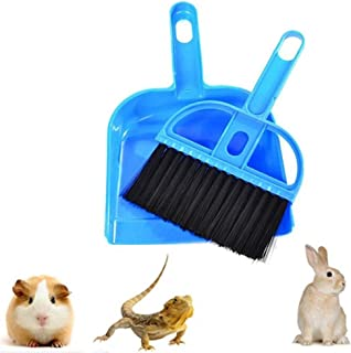 Mini Dustpan and Broom Set,Small Animal Cage Cleaner for Reptile, Hedgehog,Eopard Gecko Hamsters,Degus,Chinchilla,Guinea Pig,Bunny,Cleaning Tool Set for Animal Litter (1 Pack)