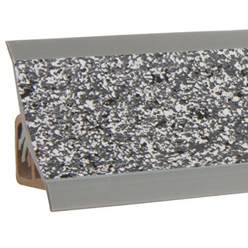 HOLZBRINK Küchenabschlussleiste Granit dunkel Küchenleiste PVC Wandabschlussleiste Arbeitsplatten 23x23 mm 150 cm