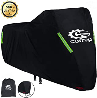 Upgraded XL Motorcycle Cover Waterproof Outdoor - Thicker and Tear Proof Scooter Cover Against Dust Rain UV - Compatible with 96.5'' Harley Davison, Honda, Yamaha