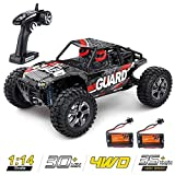 zuhafa 1:14 Scale Large RC Cars High Speed, 35+ km/h 4WD 2.4GHz,Remote Control Truck Toys for Kids and Adults - 2 Batteries for 30+ Min Play Car Gifts for Boys