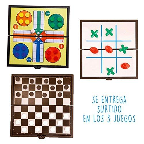 DISOK Lote de 20 Juegos Magnéticos Parchís y Tres en Raya. Juegos de Mesa, Juegos creativos Habilidades para Niños, niñas para Cumpleaños, Colegios, Guarderías. Detalles niños Comuniones Bodas