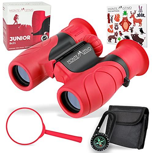 Monte Stivo® Junior | Kids Binoculars 8X21 with compass &...