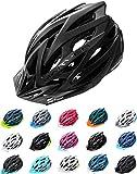 Meteor Casco Bici per Giovani e Adulti Donna e Uomo Caschi per Downhill Enduro Ciclismo MTB Helmet Ideale per Tutte Le Forme di attività in Bicicletta Marven (S(52-56cm), Nero)