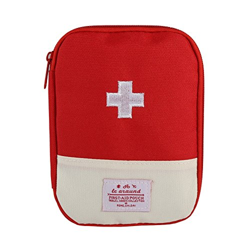 Fairlove First Aid Kit Bag Trousses De Premier Secours Voyage/Extérieur Urgence Premier Soin Secouriste Maison Camping Et Randonnée Rouge S
