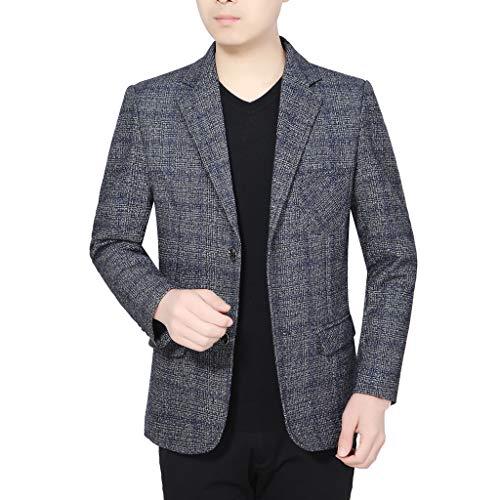 HuaCat Herren Jacket Modern Anzugjacke Baumwoll-leinen-Sakko Anzugjacke für Hochzeit Party Abschluss Business Jackett