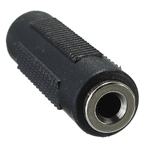 REY Adaptador Mini Jack 3.5mm Doble Hembra, Conector de Audio, Alargador Cable