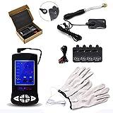 Q-HL Juguetes eróticos Electroestimulación Estimulación eléctrica Parejas fisioterapia Electro Shock guantes, equipo, hoja de electrodo Accesorios