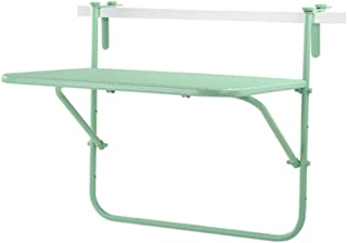 Creative Simple Casual Tables Metal Iron Mesh Balcony Hanging Wall Hanging Folding Table Study Tables Colors Optional  Color Green Size L W H  73 53 64cm