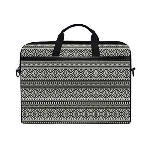 NR 15-15.4 Zoll Laptop Tasche Notebook Handtasche Umhängetasche Aktentasche,Ethnische Muster-antike Stammes- Kultur-geometrische Motive des amerikanischen Ureinwohners