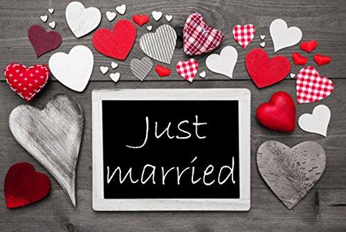 Crealuxe Fussmatte Just Married - Fussmatte Bedruckt Türmatte Innenmatte Schmutzmatte lustige Motivfussmatte