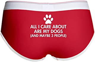 All I Care About are My Dogs Say - Women's Boy Brief, Boyshort Panty Underwear with Novelty Design