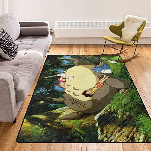 Totoro - Alfombra de salón antideslizante súper suave y moderna